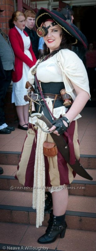 Creative Steampunk Pirate Captain Halloween Costume - 2