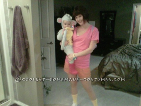 'Dowa' was one of my daughter's first words.  She was absolutely in love with Dora the Explorer.  So, for her Halloween costume, I decid