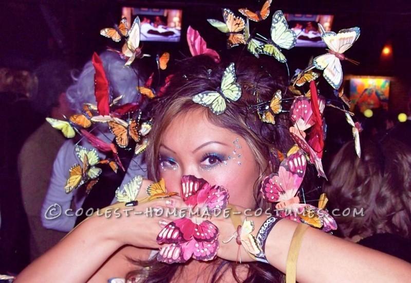 Fun Homemade Swarm of Butterflies Costume - 1