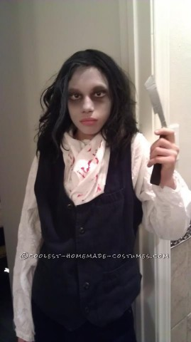 Last year ,my son was watching spooky movies during the Halloween season and decided he wanted to be Sweeney Todd for Halloween. I have always create