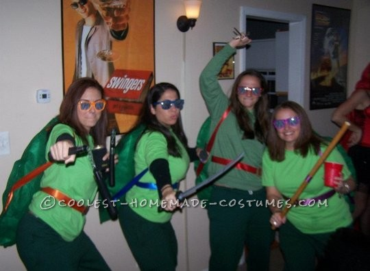 Homemade Teenage Mutant Ninja Turtles Group Costume