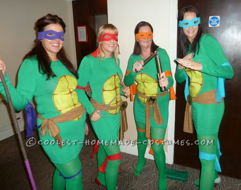 Coolest Teenage Mutant Ninja Turtles Girl Group Costume