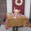 Last year my son decided to be a Thanksgiving table. This costume was super easy to create! I just cuttwo squares out of cardboar