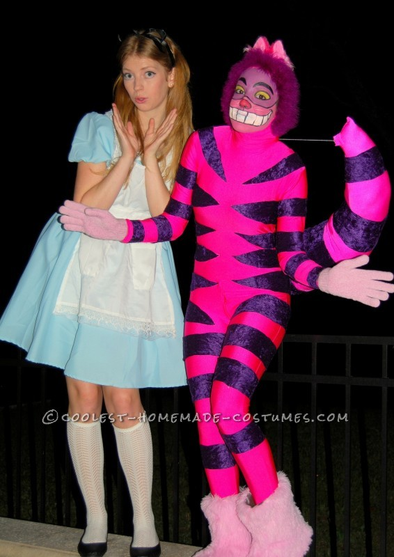 For a whole year I had planned to create my own Cheshire Cat costume for Halloween 2012. After two days of creation, my vision CAME TO LIFE, and turn