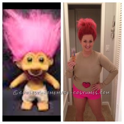 Coolest Homemade Troll Doll Halloween Costume