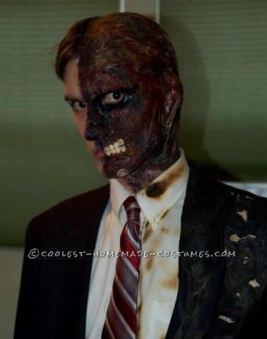 Awesome Two-Face Homemade Halloween Costume