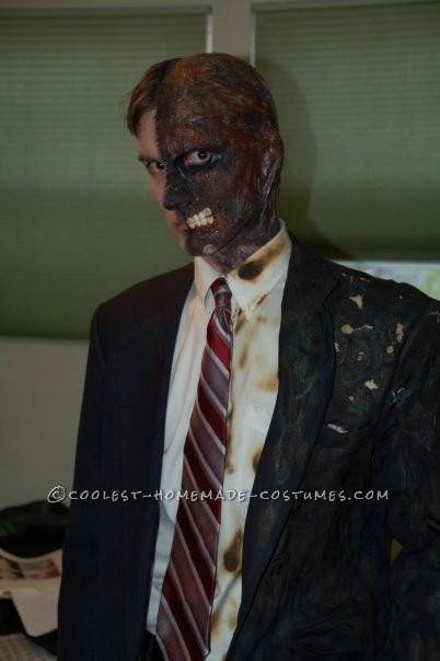 Awesome Two-Face Homemade Halloween Costume - 1