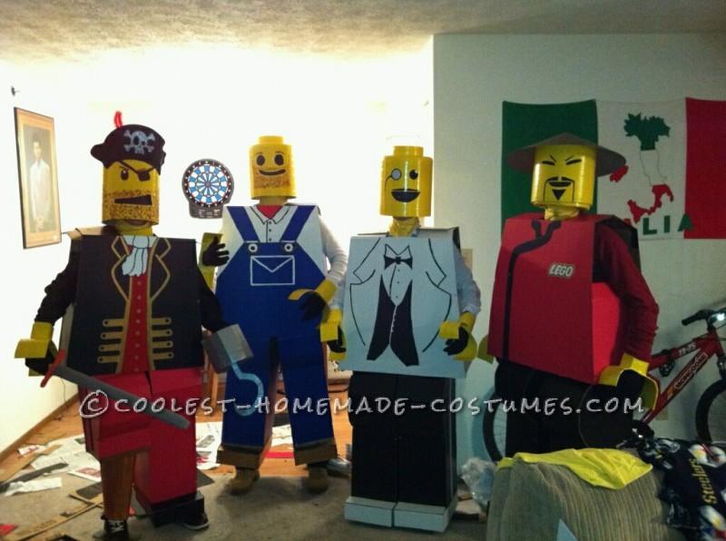 The life-size Lego men.