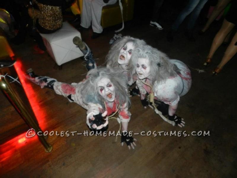 Creepy Zombie Grannies Homemade Group Costume - 4