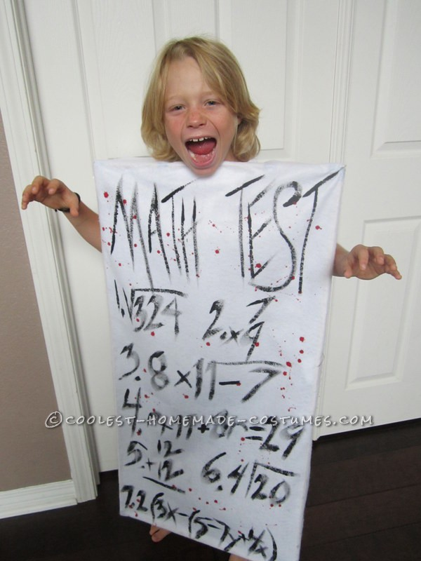 The Most Terrifying Costume for an 8 Year Old Ever – Homework!