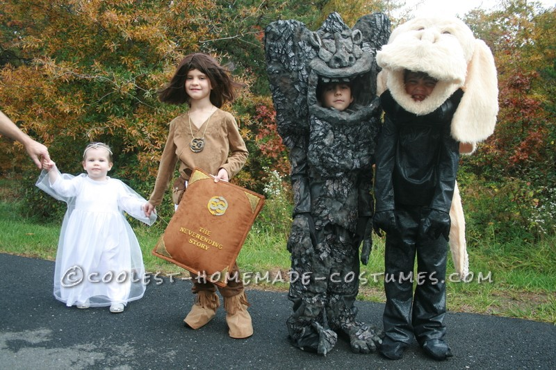 Cool Neverending Story Group Costume: A Flying Dog, Rock Eater, Hero and a Princess