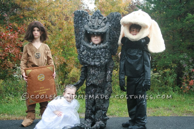 Cool Neverending Story Group Costume: A Flying Dog, Rock Eater, Hero and a Princess - 3