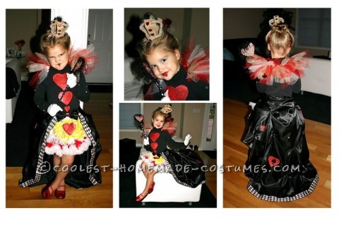 Our 4 Year old daughter choose this costume... I think she did so just for the blue eyeshadow and the red lipstick. The first thing we made was the c
