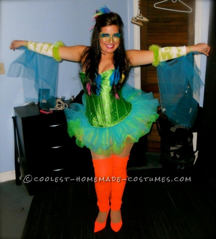 This year for my friends annual Halloween party I really wanted to be a bird. There was a two hundred dollar peacock costume I liked, but spending th