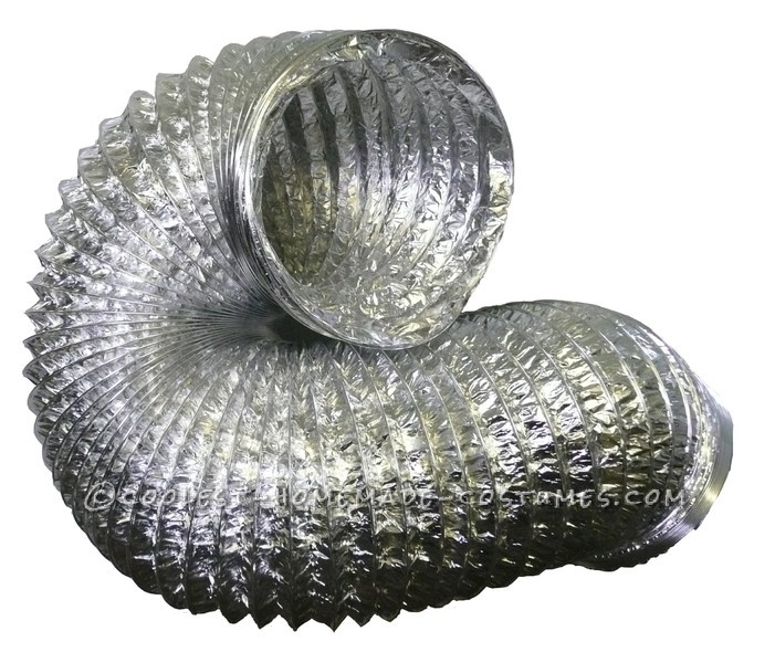 aluminium ducting used to make the shell