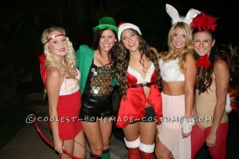 The Happy Holidays Girls Group Costume