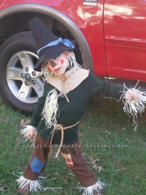 Coolest Homemade Child Scarecrow Costume from The Wizard of Oz - 1