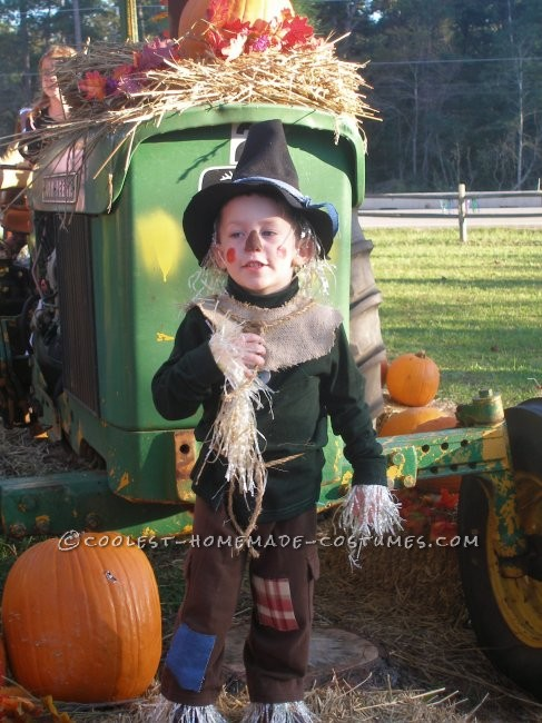 Coolest Homemade Child Scarecrow Costume From The Wizard Of Oz