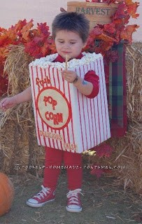 Cool Theater Popcorn Costume for a Two Year Old Boy