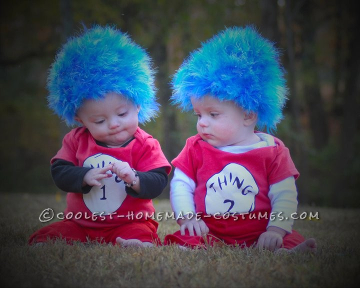 Coolest Thing 1 and Thing 2 Twin Baby Costumes - 1