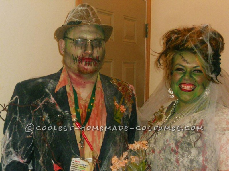 Coolest Zombie Bride and Groom Couple Costume: Till Death Do Us Part
