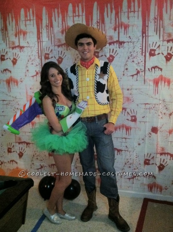 Homemade Couple Costume: Sexy Buzz Lightyear and Woody