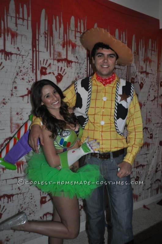 Homemade Couple Costume: Sexy Buzz Lightyear and Woody - 1