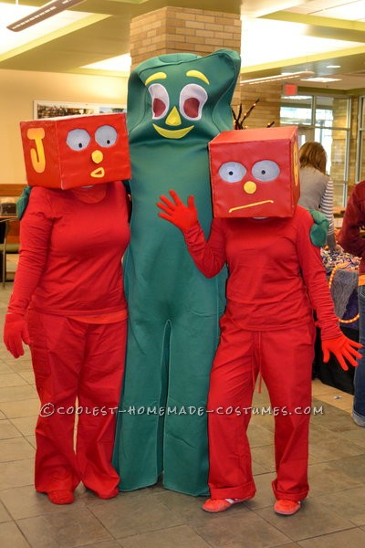 Every year we have a costume contest at work and I always try to make the costume.  My boss loves Gumby and brought in his bought costume and I