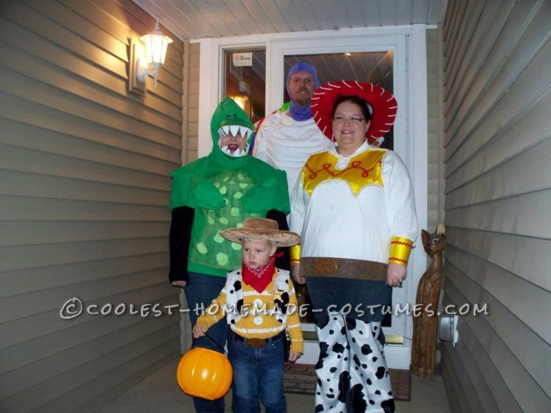 My son wanted to be Woody for Halloween. And as a 3 yr old, he wanted all of us to dress up with him. I was assigned Jessie, Daddy was Buzz Lightyear