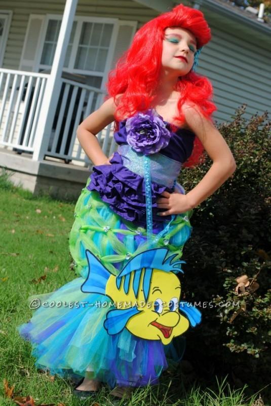 Coolest Homemade Girl's Halloween Costume: Ariel - 1