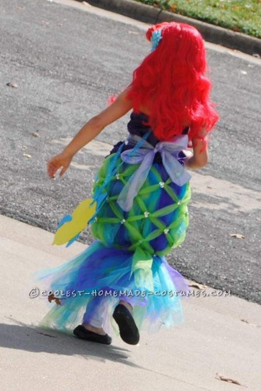 Coolest Homemade Girl's Halloween Costume: Ariel - 3