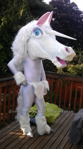 Every year I try to find a costume that has been done before, and then take it to a whole new level. This year was inspired by a ridiculous unicorn c