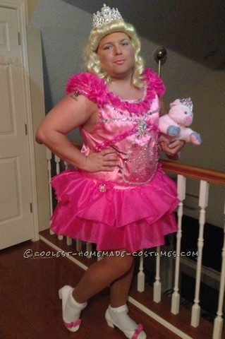 This costume idea came about 3 months ago right when the Honey Boo Boo craze 1st started. We worked on this costume for 3 months just 1 or 2 days a w