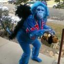 Original Blue Flying Monkey Homemade Halloween Costume