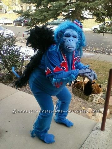 Original Blue Flying Monkey Homemade Halloween Costume