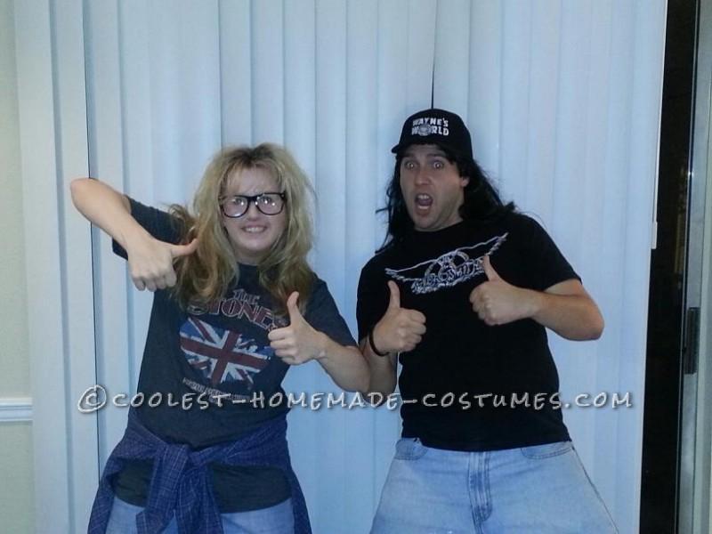 Coolest Homemade Wayne's World Couple Halloween Costume - 1