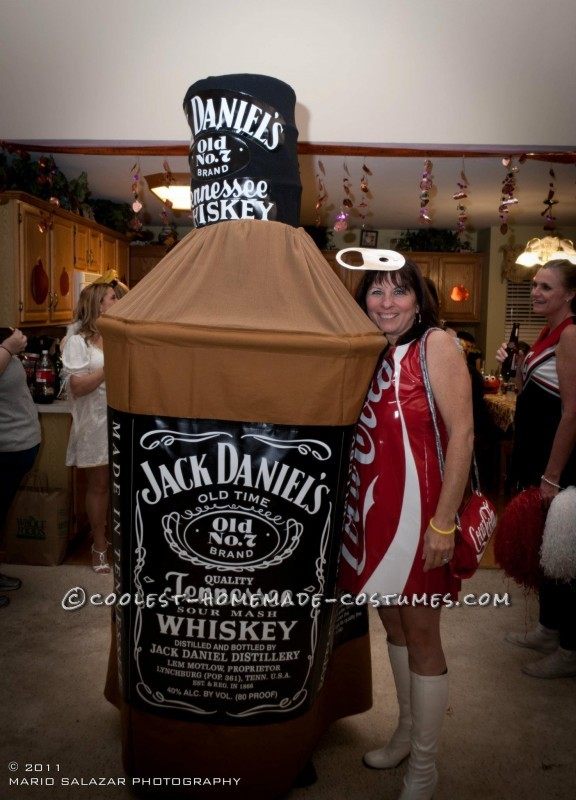 Original Jack and Coke Homemade Couple Costume