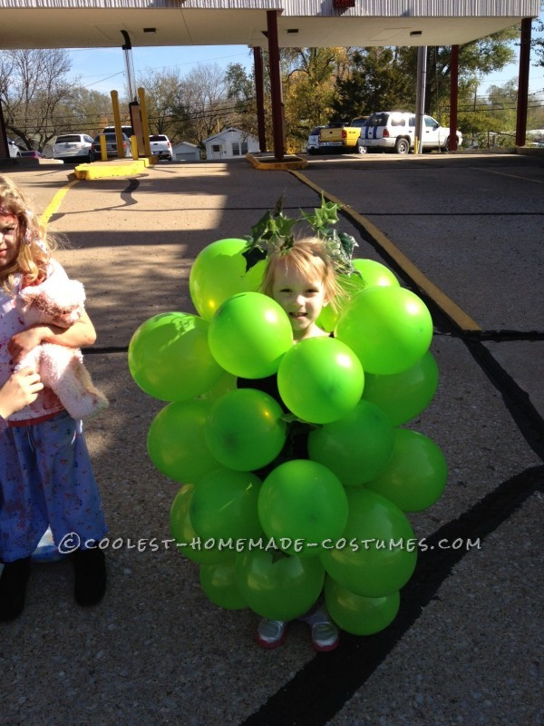Last-Minute Easy Grapes Halloween Costume - 2