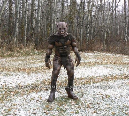 Outdoor werewolf.