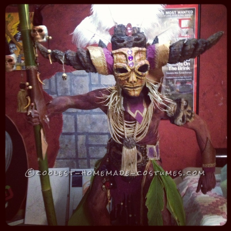 Coolest Homemade Witch Doctor Costume