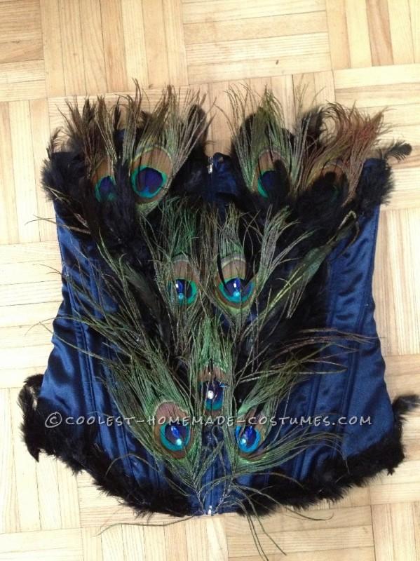Woman's Homemade Peacock Costume - 4