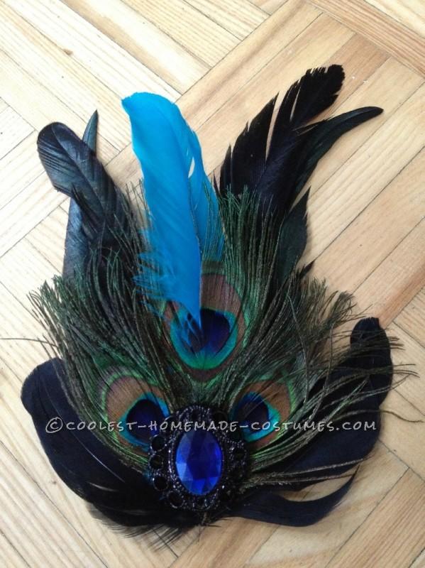Woman's Homemade Peacock Costume - 2