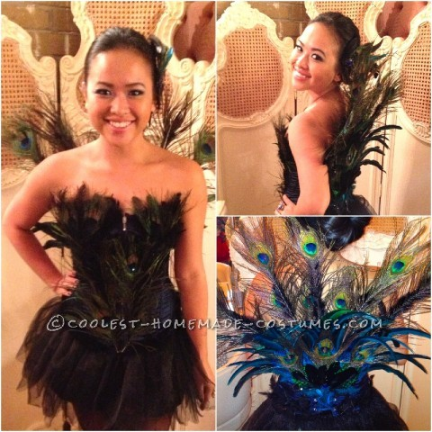 This is my first homemade costume. I've always wanted to be a peacock for Halloween, I did a bit of research and decided that I could make my own.