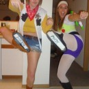 My friend and I were Buzz ad Woody for Halloween. These costumes were very easy to make and everyone loved them!!For the Woody costume,