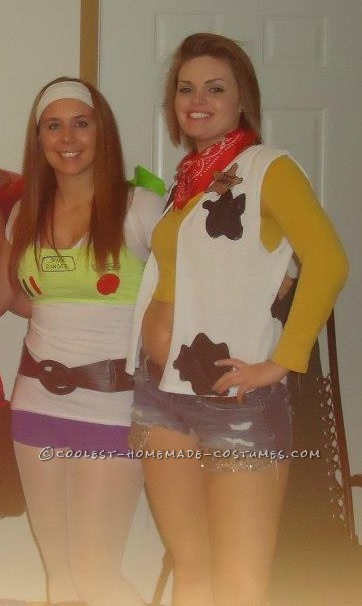 Coolest Women's Buzz Lightyear and Woody Couple Costume - 2