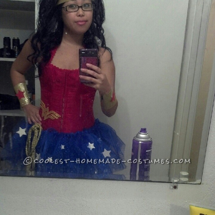 Homemade Wonder Woman Costume Made in One Day!
