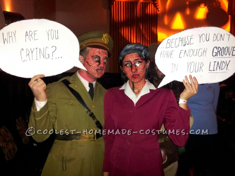 Original WWII Comic Book Pop Art Couple Costume