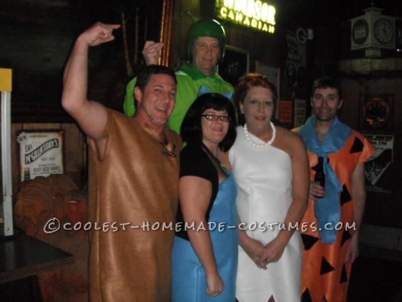 Home Made Flintstones Group Halloween Costume - 4