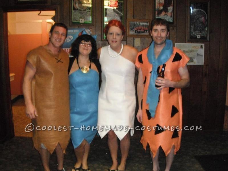 Home Made Flintstones Group Halloween Costume