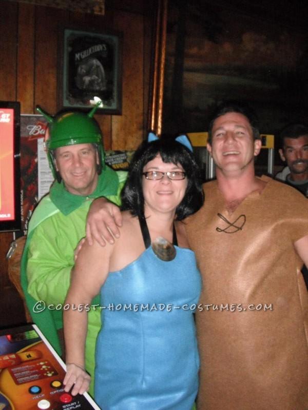 Home Made Flintstones Group Halloween Costume - 3